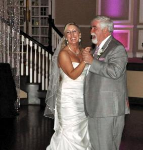 Father of the bride and his beautiful daughter, Katie